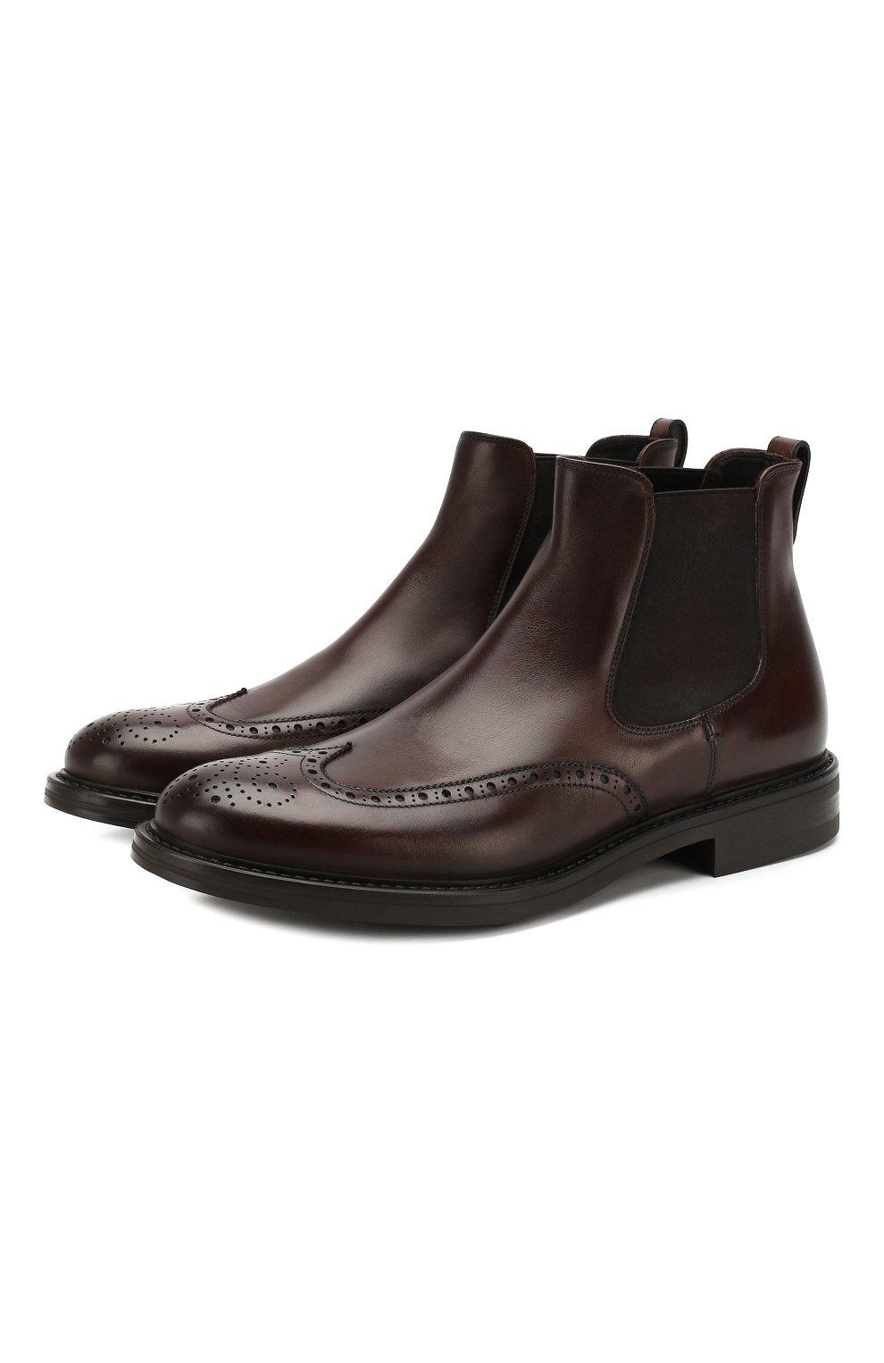 Мужские кожаные челси W.GIBBS темно-коричневого цвета, арт. 3169004/0214 | Фото 1