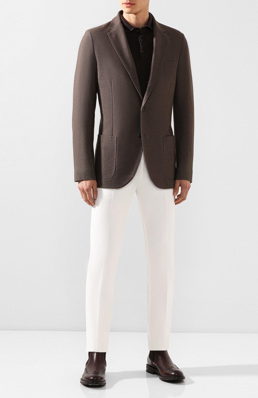 Мужские кожаные челси W.GIBBS темно-коричневого цвета, арт. 3169004/0214 | Фото 2
