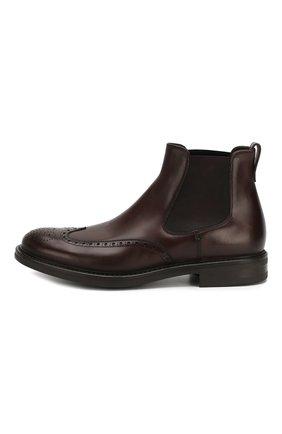 Мужские кожаные челси W.GIBBS темно-коричневого цвета, арт. 3169004/0214 | Фото 3