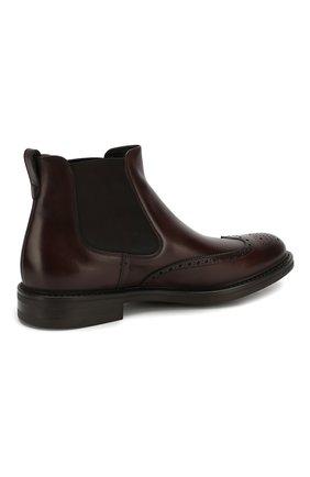 Мужские кожаные челси W.GIBBS темно-коричневого цвета, арт. 3169004/0214 | Фото 4