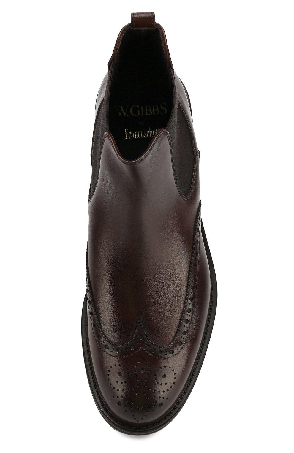 Мужские кожаные челси W.GIBBS темно-коричневого цвета, арт. 3169004/0214 | Фото 5