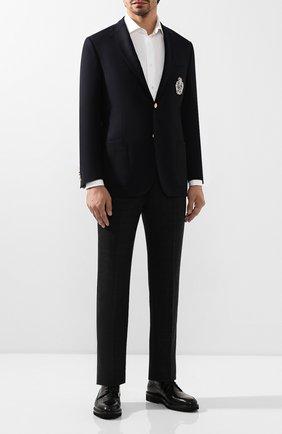 Мужские кожаные дерби ALDO BRUE черного цвета, арт. AB4045H-BRU | Фото 2