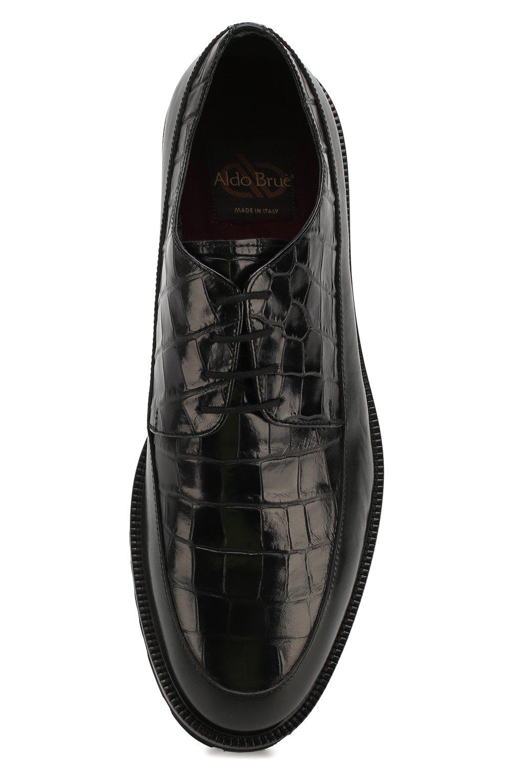 Мужские кожаные дерби ALDO BRUE черного цвета, арт. AB4045H-BRU | Фото 5