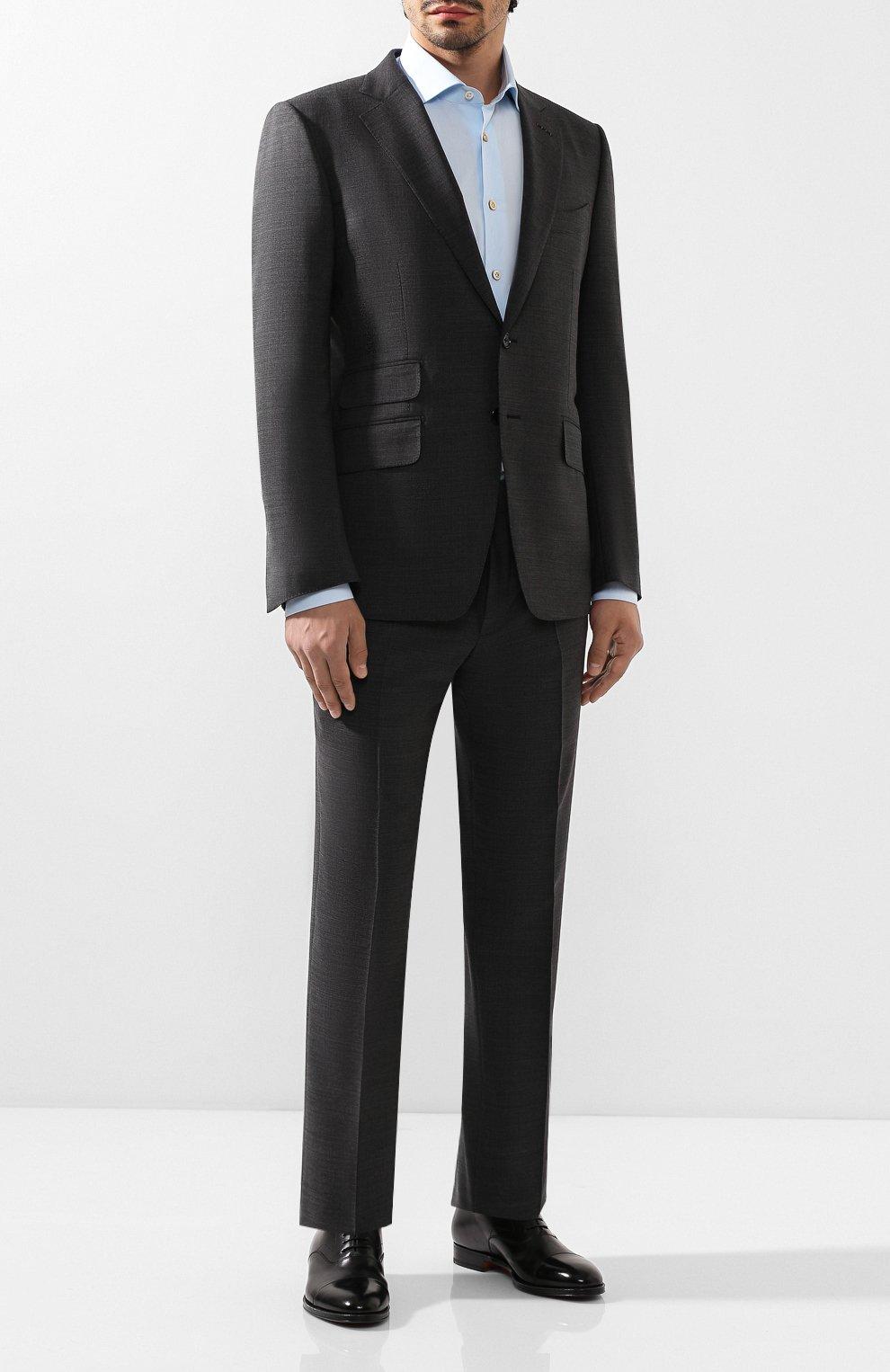 Мужские кожаные оксфорды SANTONI черного цвета, арт. MCRG04508JB2INENN01 | Фото 2