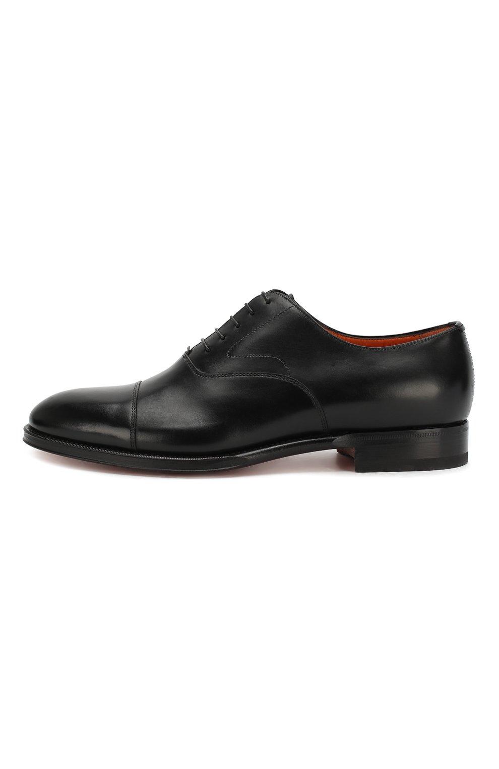 Мужские кожаные оксфорды SANTONI черного цвета, арт. MCRG04508JB2INENN01 | Фото 3