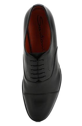 Мужские кожаные оксфорды SANTONI черного цвета, арт. MCRG04508JB2INENN01 | Фото 5