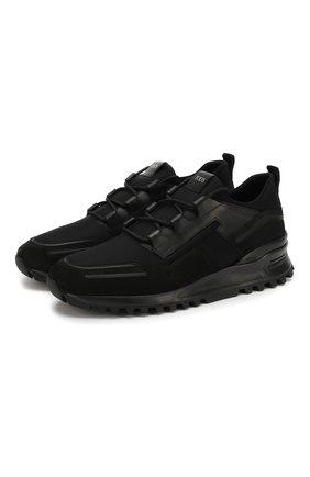 Мужские замшевые кроссовки TOD'S черного цвета, арт. XXM98B0BX60M7M | Фото 1
