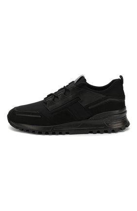 Мужские замшевые кроссовки TOD'S черного цвета, арт. XXM98B0BX60M7M | Фото 3