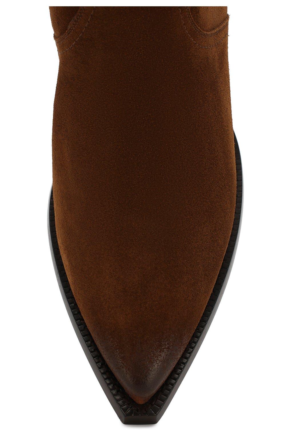 Мужские замшевые казаки lukas SAINT LAURENT коричневого цвета, арт. 579509/BT300   Фото 5