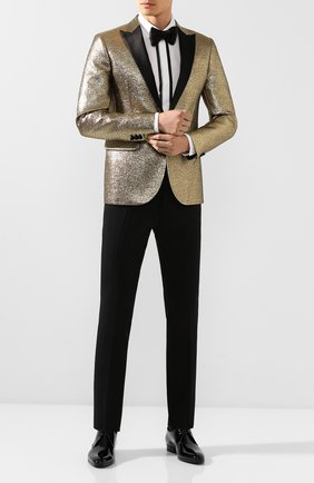 Мужские кожаные дерби SAINT LAURENT черного цвета, арт. 579742/0D500 | Фото 2 (Статус проверки: Проверено, Проверена категория; Стили: Классический)