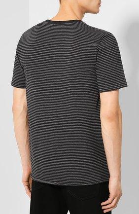 Мужская хлопковая футболка SAINT LAURENT серого цвета, арт. 582196/YBIU2 | Фото 4