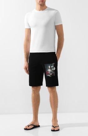 Мужские шлепанцы VILEBREQUIN черного цвета, арт. COPH9505   Фото 2