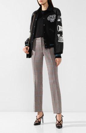 Женские шерстяные брюки OFF-WHITE бежевого цвета, арт. 0WCA060E19F270779900 | Фото 2