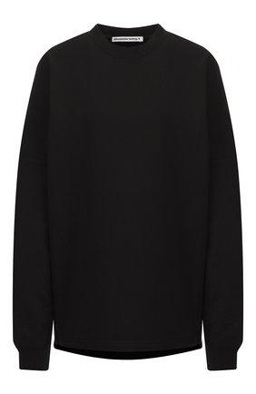 Женская хлопковый пуловер ALEXANDERWANG.T черного цвета, арт. 4CC2191024 | Фото 1