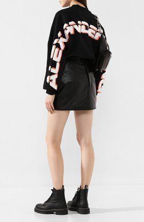 Женская хлопковый пуловер ALEXANDERWANG.T черного цвета, арт. 4CC2191024 | Фото 2