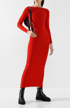 Женское платье ALEXANDER WANG красного цвета, арт. 1KC2196120 | Фото 2