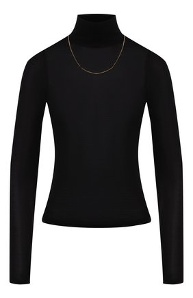 Женская водолазка из смеси шерсти и шелка ALEXANDER WANG черного цвета, арт. 1KC2191066 | Фото 1
