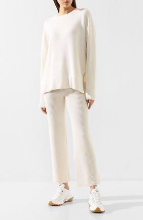 Женская пуловер из смеси шерсти и кашемира MARKUS LUPFER белого цвета, арт. KN2613 | Фото 2