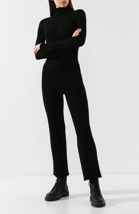 Женские брюки из смеси шерсти и кашемира MARKUS LUPFER черного цвета, арт. KN2554 | Фото 2