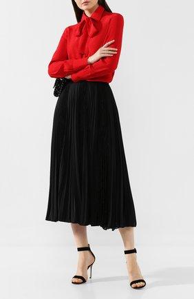 Женская плиссированная юбка VALENTINO черного цвета, арт. SB3MD00X4TG | Фото 2