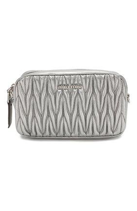 Женская поясная сумка MIU MIU серебряного цвета, арт. 5BL005-N88-F0135-COO | Фото 1