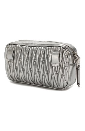 Женская поясная сумка MIU MIU серебряного цвета, арт. 5BL005-N88-F0135-COO | Фото 3