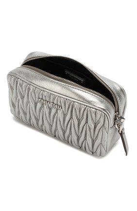 Женская поясная сумка MIU MIU серебряного цвета, арт. 5BL005-N88-F0135-COO | Фото 4