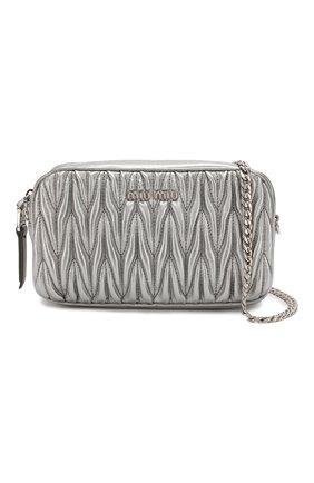 Женская поясная сумка MIU MIU серебряного цвета, арт. 5BL005-N88-F0135-COO | Фото 6