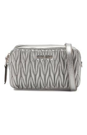 Женская поясная сумка MIU MIU серебряного цвета, арт. 5BL005-N88-F0135-COO | Фото 7