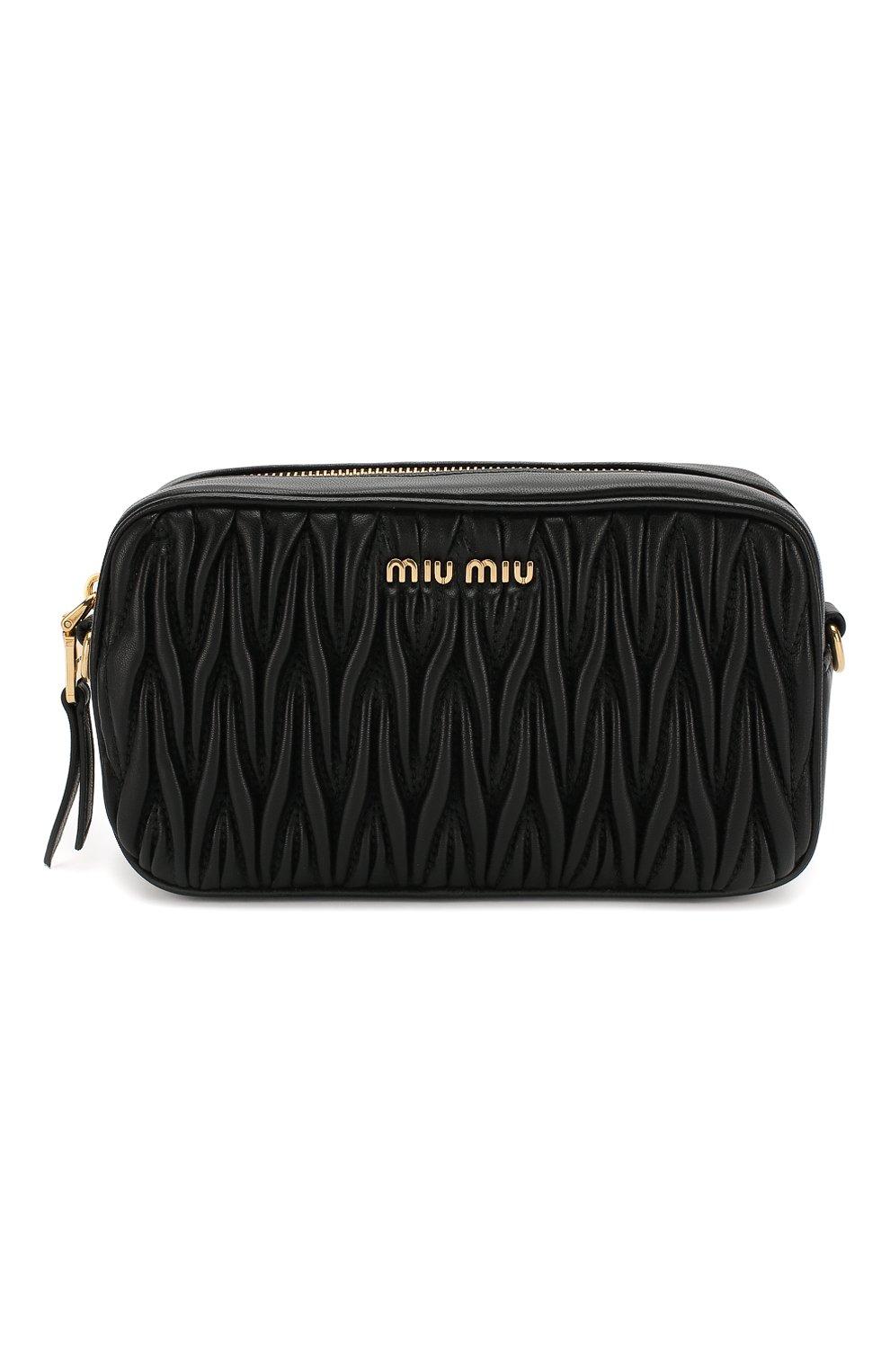 Женская поясная сумка MIU MIU черного цвета, арт. 5BL005-N88-F0002-COO | Фото 1