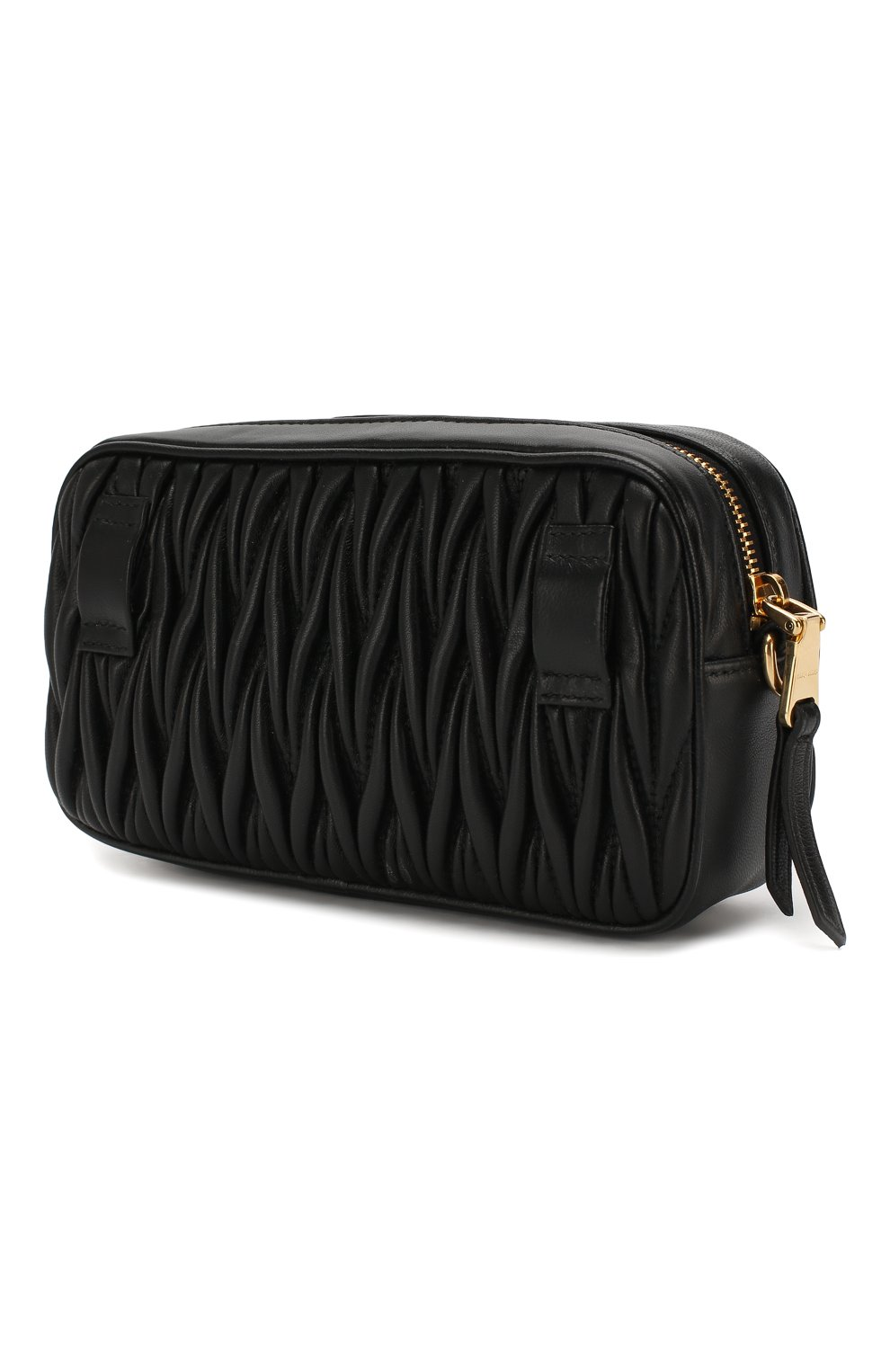Женская поясная сумка MIU MIU черного цвета, арт. 5BL005-N88-F0002-COO | Фото 3