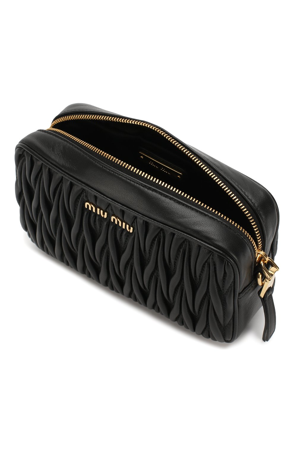 Женская поясная сумка MIU MIU черного цвета, арт. 5BL005-N88-F0002-COO | Фото 4