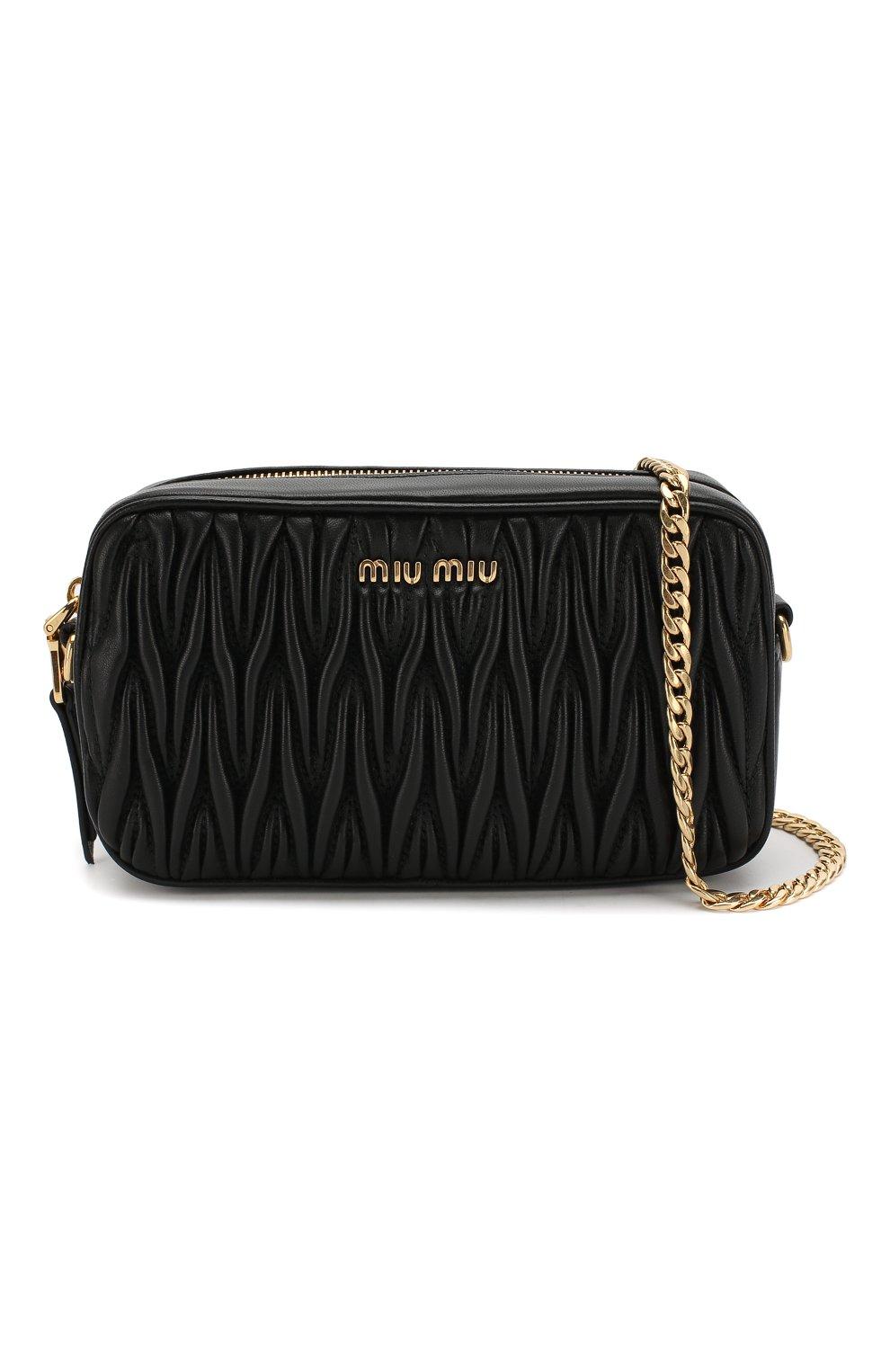 Женская поясная сумка MIU MIU черного цвета, арт. 5BL005-N88-F0002-COO | Фото 6