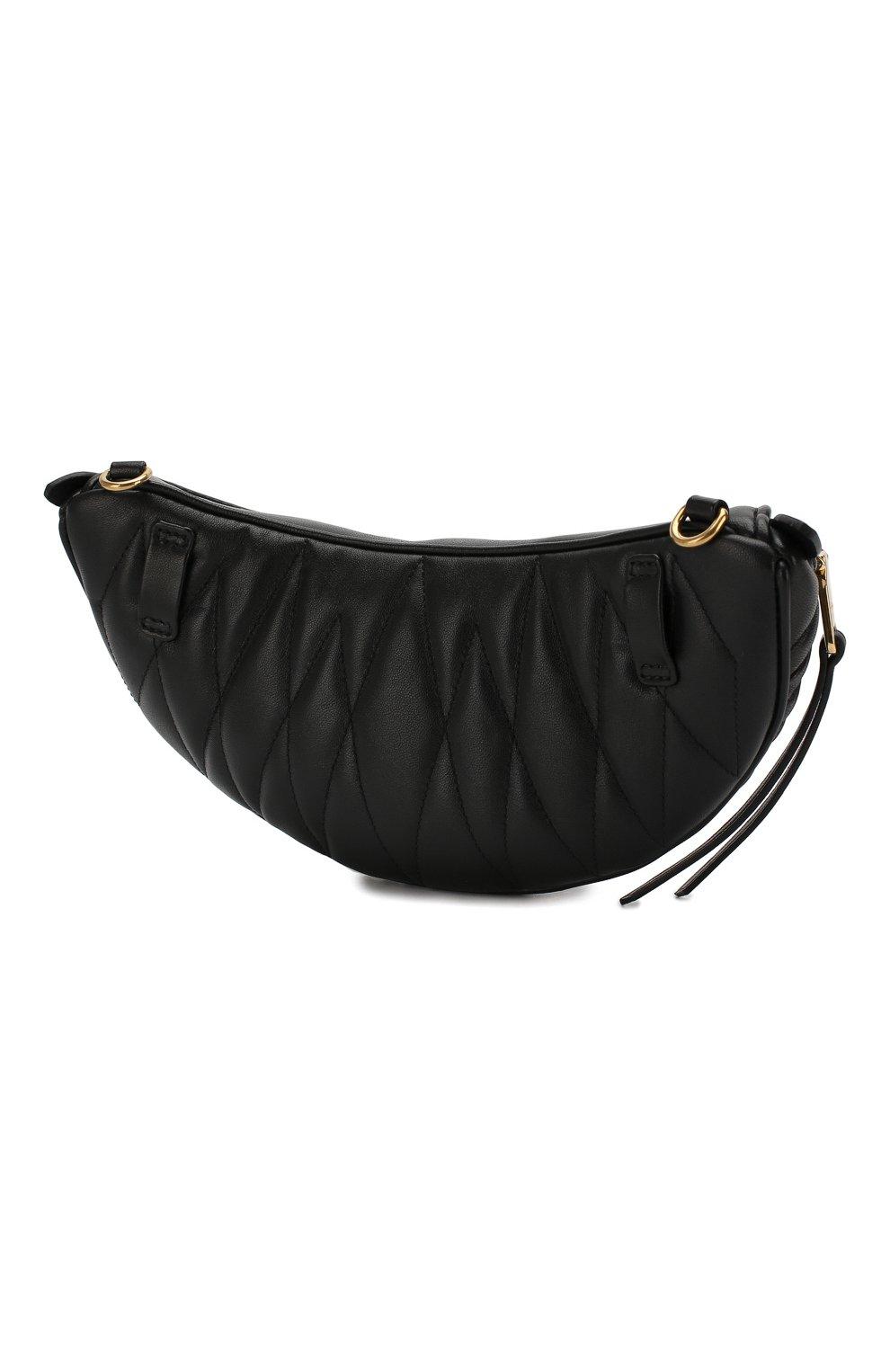 Женская поясная сумка MIU MIU черного цвета, арт. 5BL010-N88-F0002-OOO | Фото 3