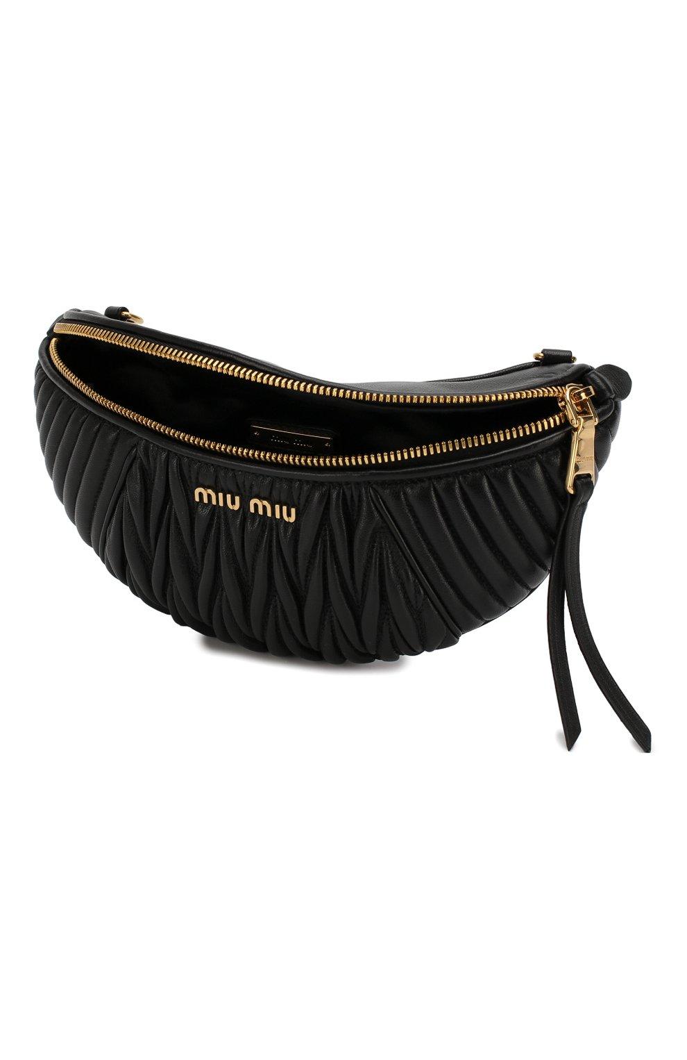 Женская поясная сумка MIU MIU черного цвета, арт. 5BL010-N88-F0002-OOO | Фото 4