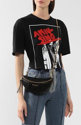 Женская поясная сумка MIU MIU черного цвета, арт. 5BL010-N88-F0002-OOO | Фото 5