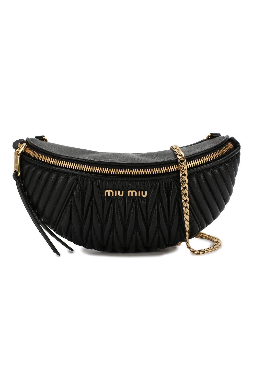 Женская поясная сумка MIU MIU черного цвета, арт. 5BL010-N88-F0002-OOO | Фото 6