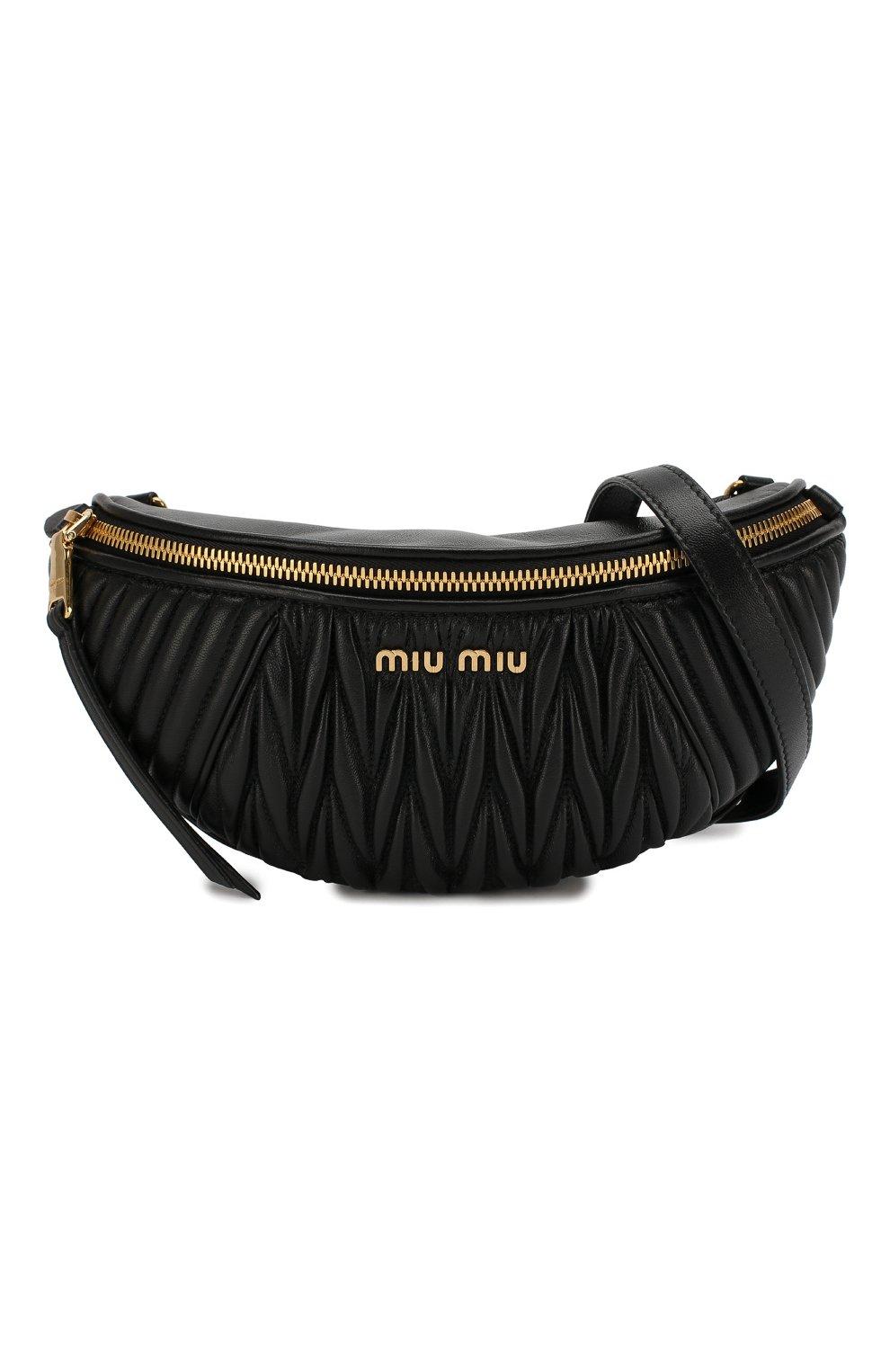 Женская поясная сумка MIU MIU черного цвета, арт. 5BL010-N88-F0002-OOO | Фото 7