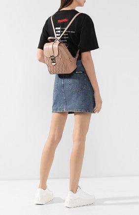 Женский рюкзак из кожи MIU MIU бежевого цвета, арт. 5BZ026-N88-F0770-OOO | Фото 2