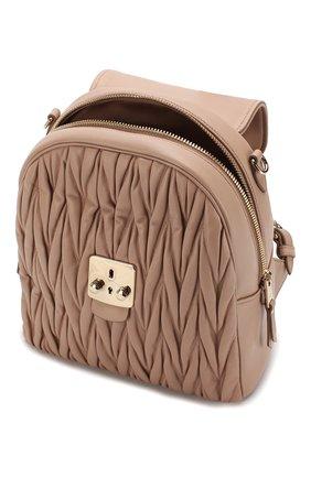 Женский рюкзак из кожи MIU MIU бежевого цвета, арт. 5BZ026-N88-F0770-OOO | Фото 4