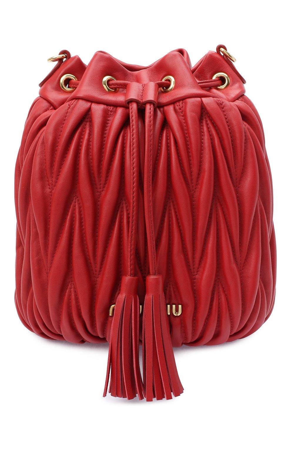 Женский сумка MIU MIU красного цвета, арт. 5BE014-N88-F068Z-OOO | Фото 1