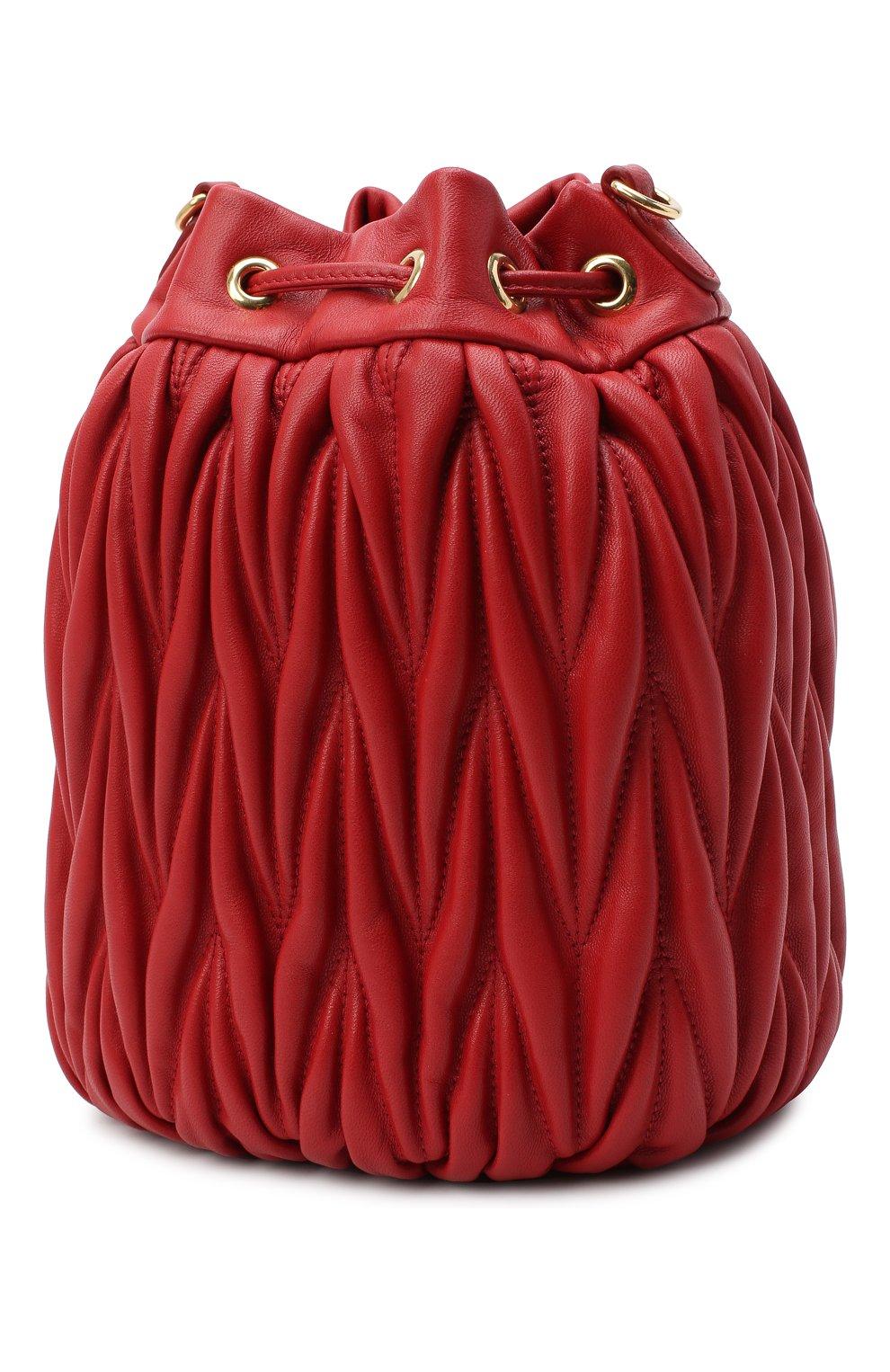 Женский сумка MIU MIU красного цвета, арт. 5BE014-N88-F068Z-OOO | Фото 3