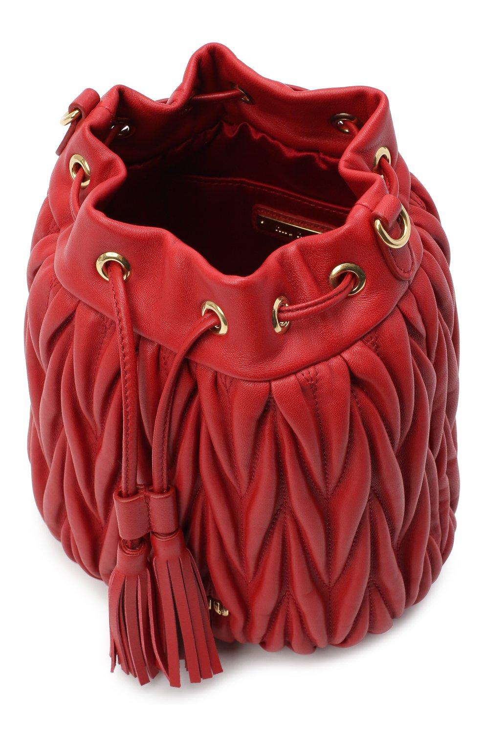 Женский сумка MIU MIU красного цвета, арт. 5BE014-N88-F068Z-OOO | Фото 4
