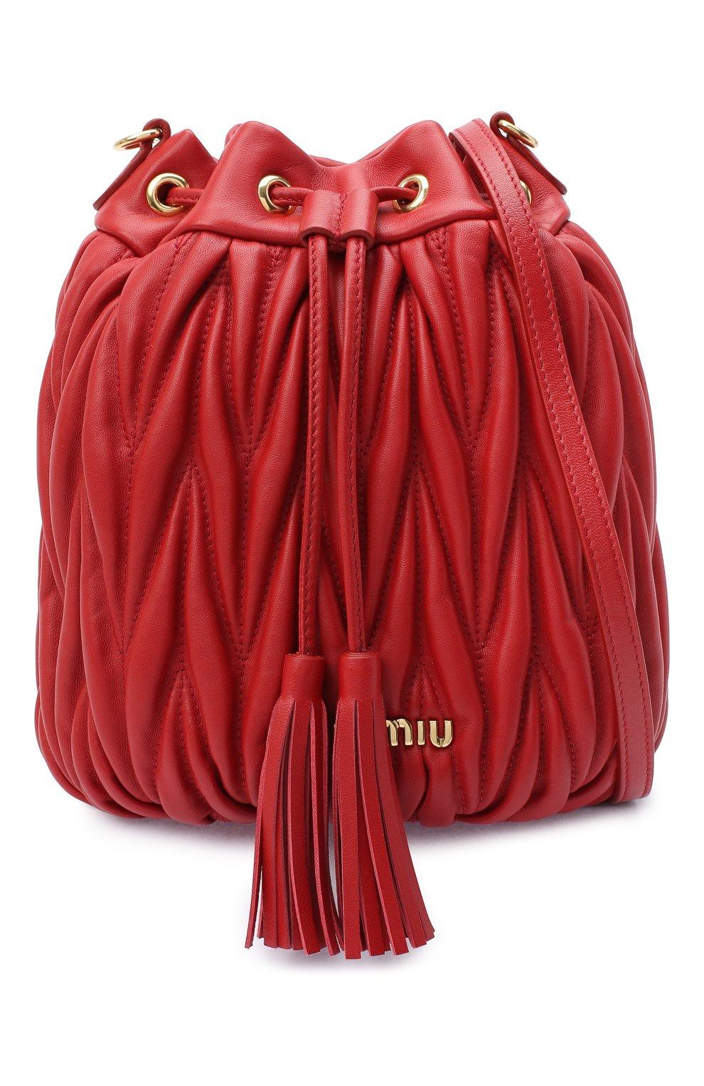 Женский сумка MIU MIU красного цвета, арт. 5BE014-N88-F068Z-OOO | Фото 5
