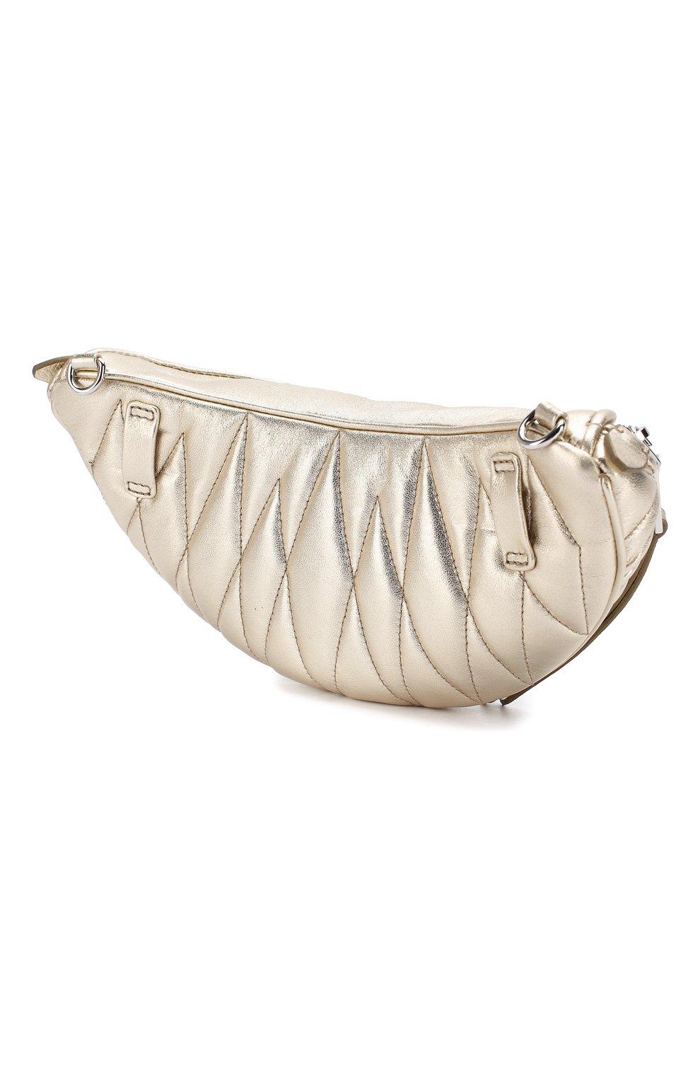 Женская поясная сумка  MIU MIU серебряного цвета, арт. 5BL010-N88-F0PLI-OOO | Фото 3