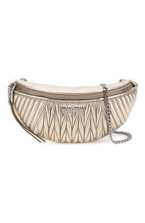 Женская поясная сумка  MIU MIU серебряного цвета, арт. 5BL010-N88-F0PLI-OOO | Фото 6