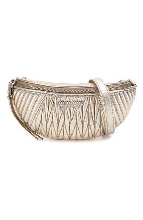 Женская поясная сумка  MIU MIU серебряного цвета, арт. 5BL010-N88-F0PLI-OOO | Фото 7
