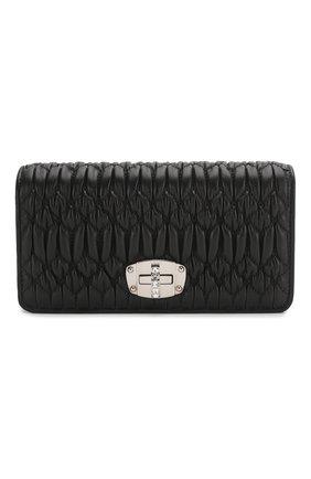 Женская сумка MIU MIU черного цвета, арт. 5DH044-FVJ-F0002   Фото 1