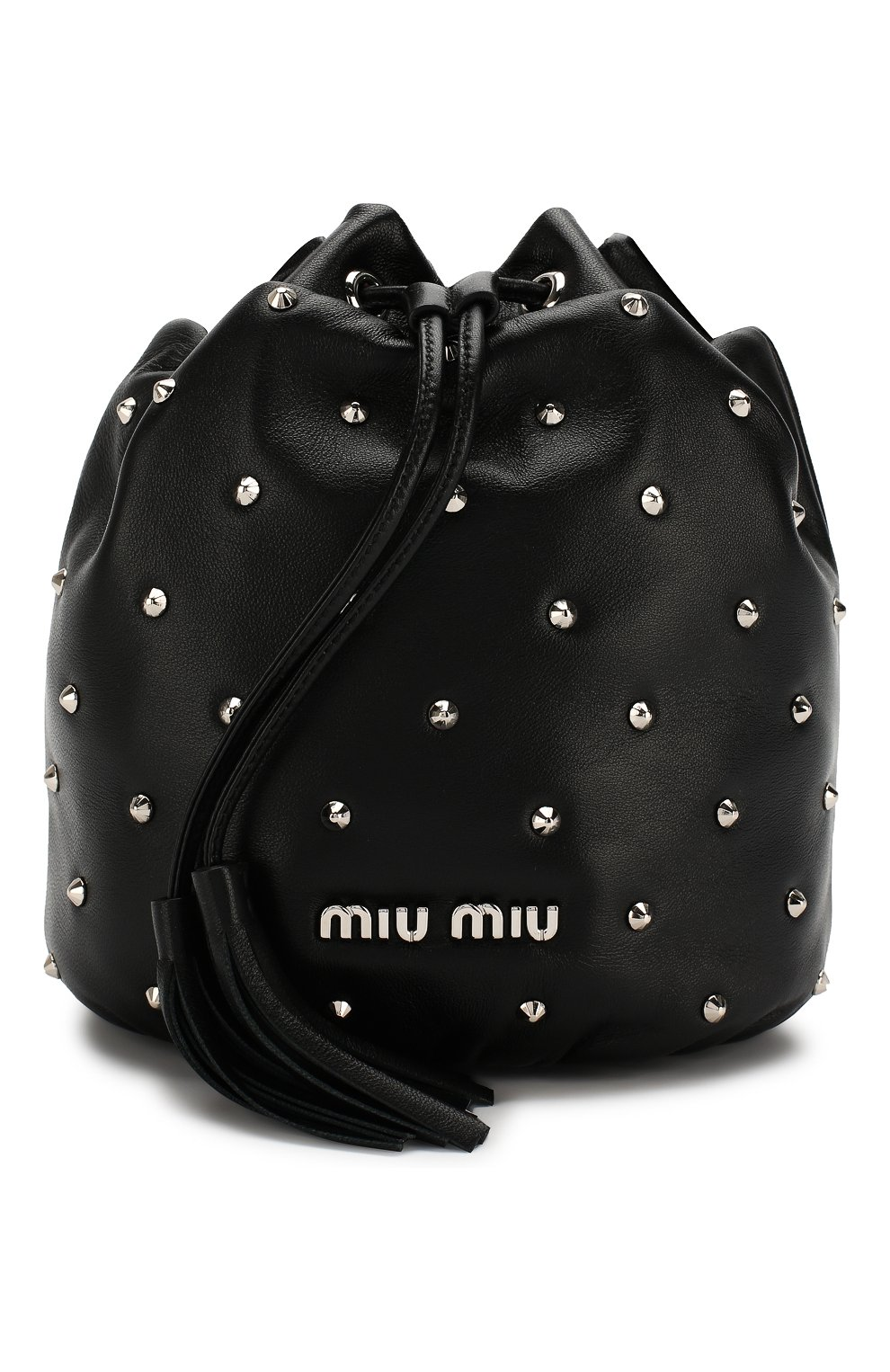 Женский рюкзак из кожи MIU MIU черного цвета, арт. 5BE014-2B6I-F0002-OBO | Фото 1