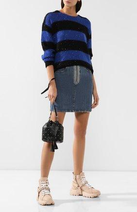 Женский рюкзак из кожи MIU MIU черного цвета, арт. 5BE014-2B6I-F0002-OBO | Фото 2